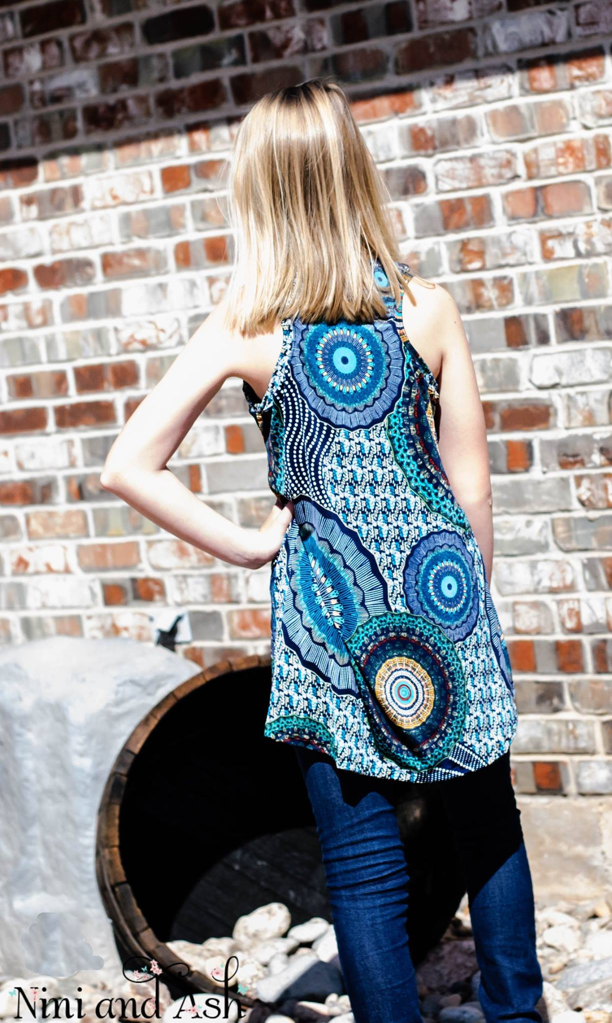 Tween Swing Tunic Racerback Abstract Print