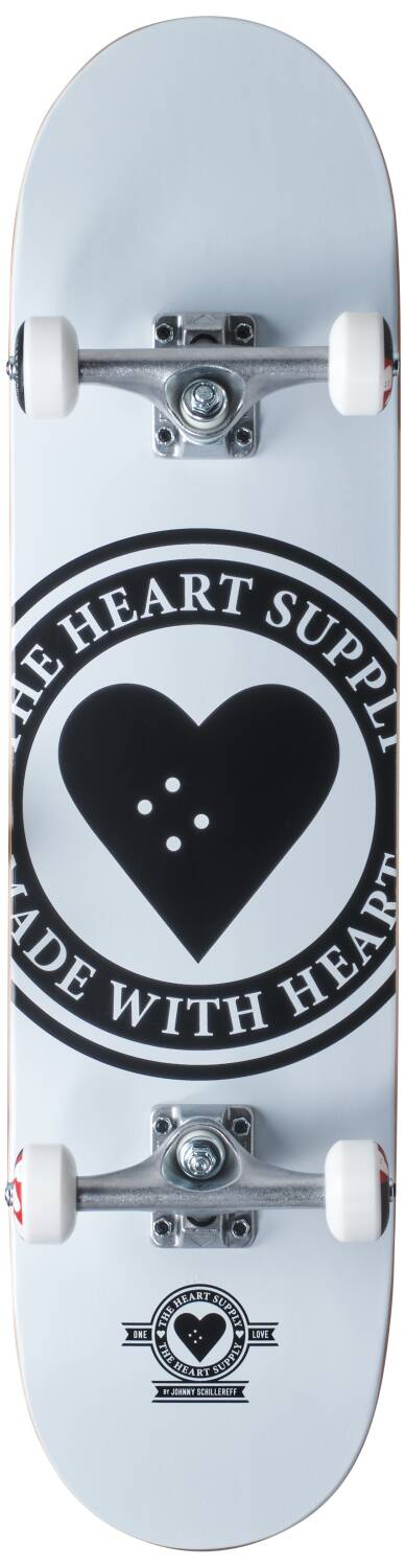 HEART SUPPLY LOGO 8.0 BADGE WHITE