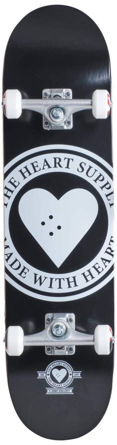 HEART SUPPLY LOGO 7.75 BADGE BLACK