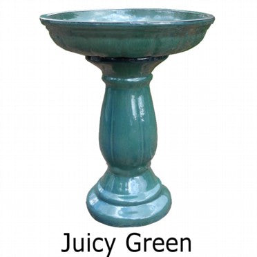 Glazed Bird Bath