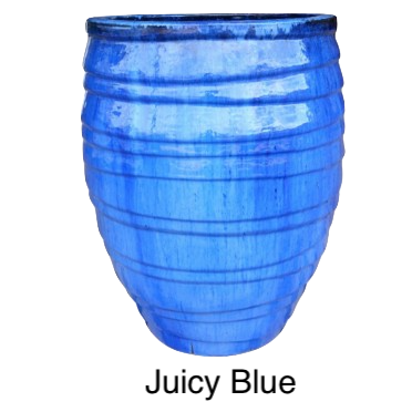 Lapped Water Jar Glazed