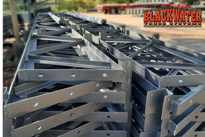 "Stacks of 2"" Angle Iron Trusses"