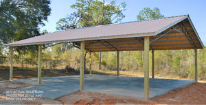 Open image in slideshow, COMPLETE OPEN POLE BARN KIT - 20' X 30' X 10'