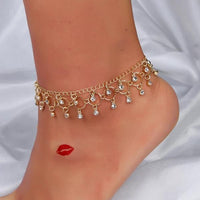 Tassel bell ankle jewelry