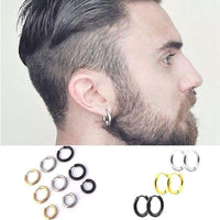 Men Punk Gothic Stainless Steel  Earring