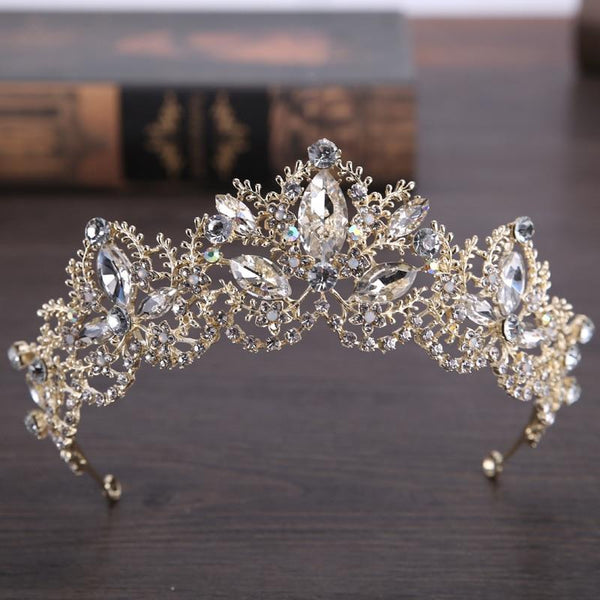 Luxury Crystal AB Bridal Crown