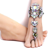 Bohemian style crystal ankle jewelry