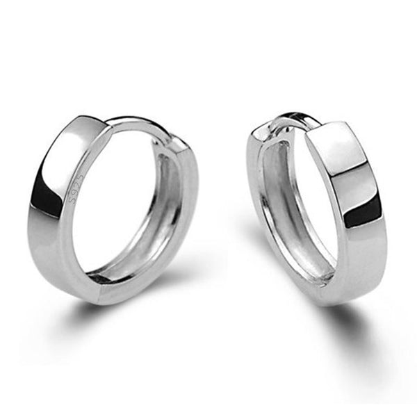 Sterling Silver Smooth Men Earring