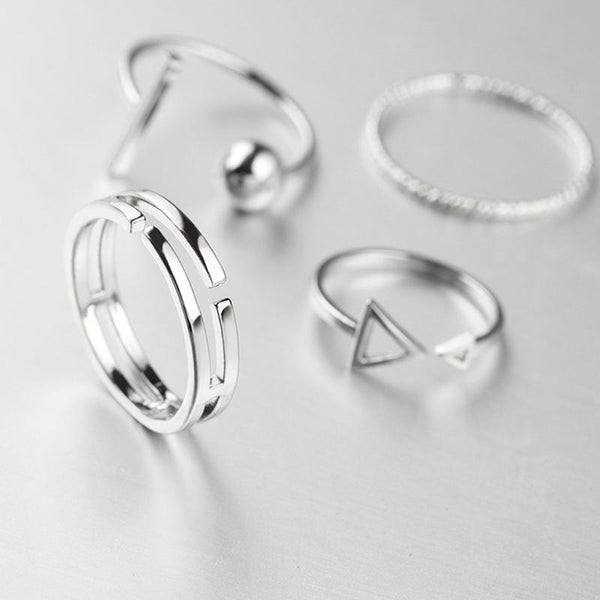 New Fashion 4 Pcs/Set Korean Style Rings