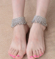 Silver bell ankle jewelry