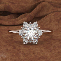 Propose  Snowflakes Ring