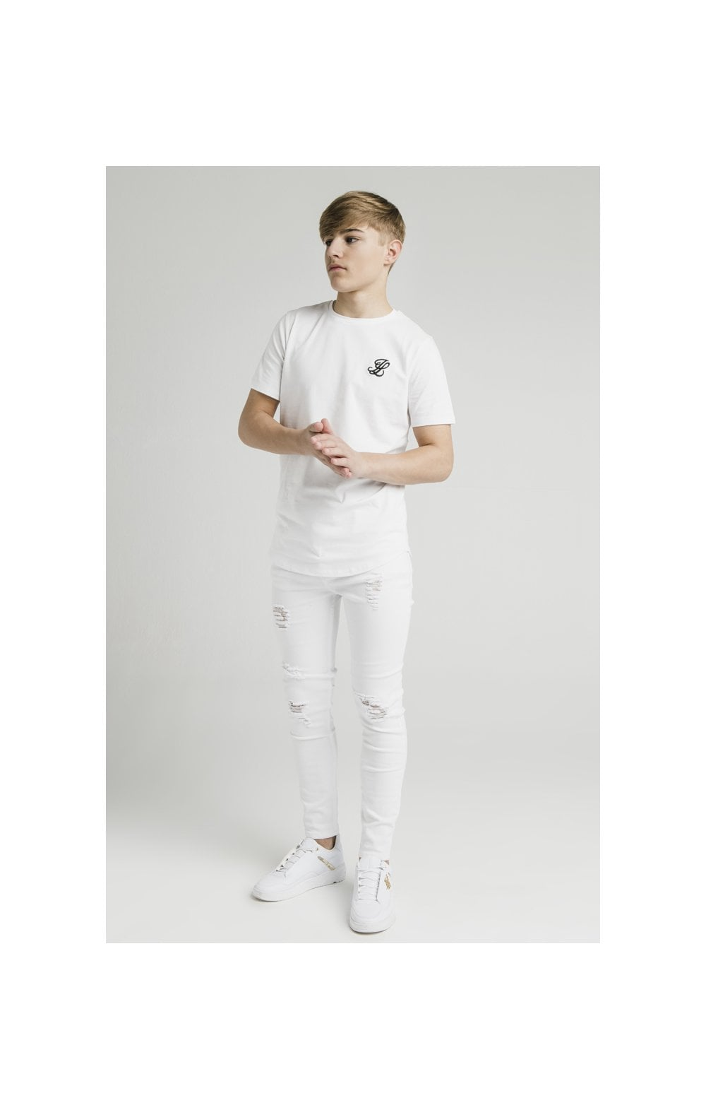 Illusive London Curved Hem Tee - White (3)