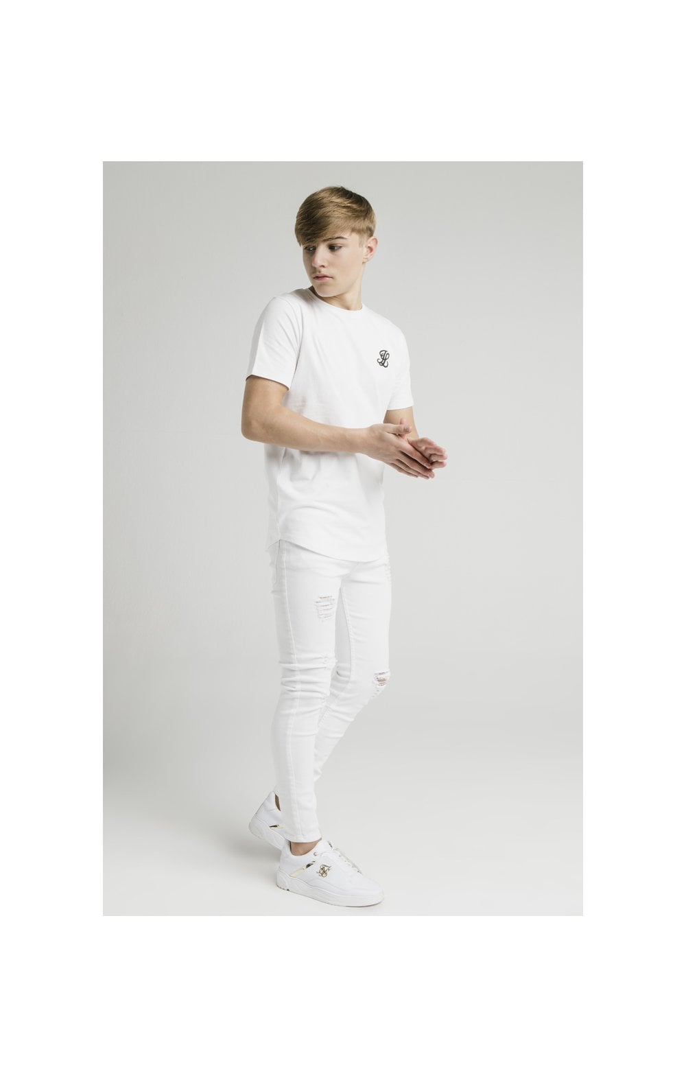 Illusive London Curved Hem Tee - White (5)
