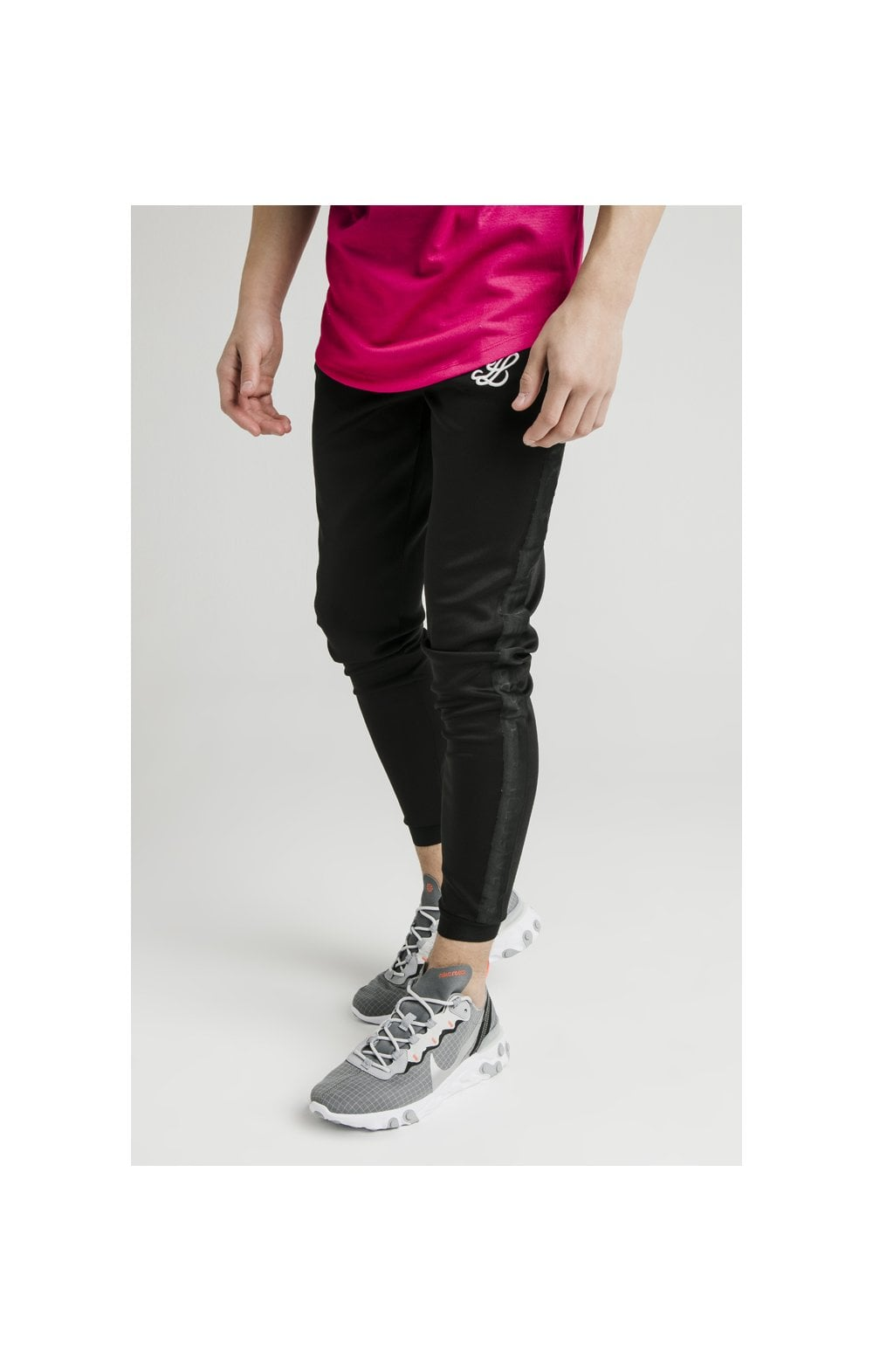 Illusive London Elastic Cuff Athlete Pants - Black