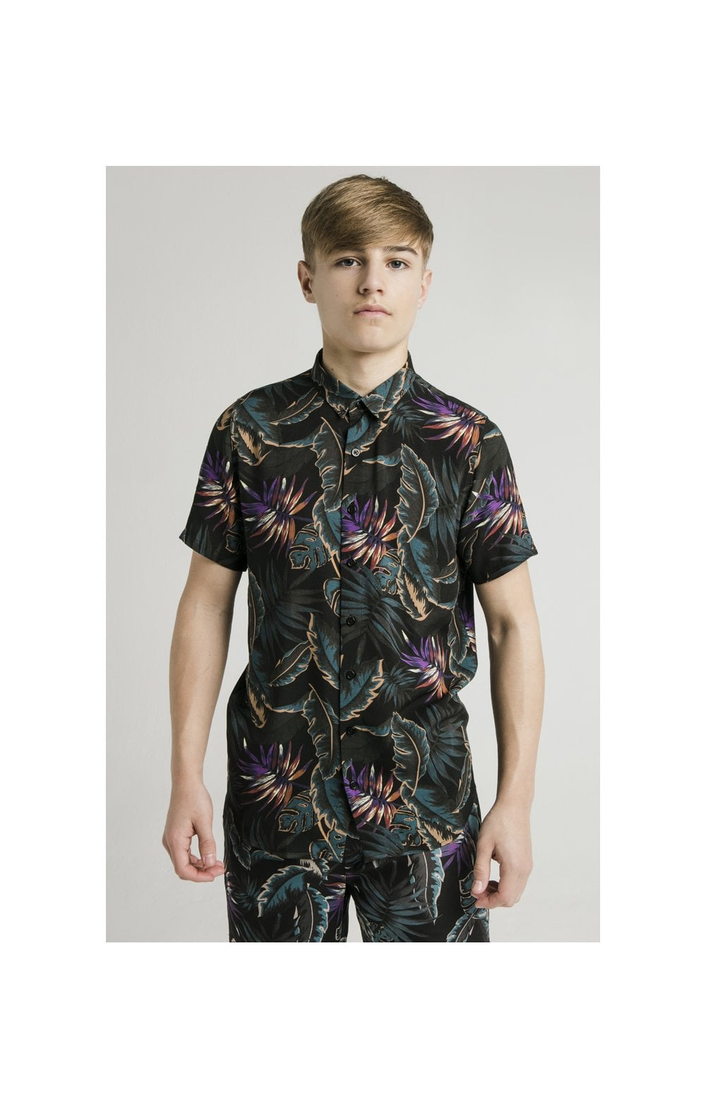 Load image into Gallery viewer, Illusive London Resort Shirt - Palm Print (1)