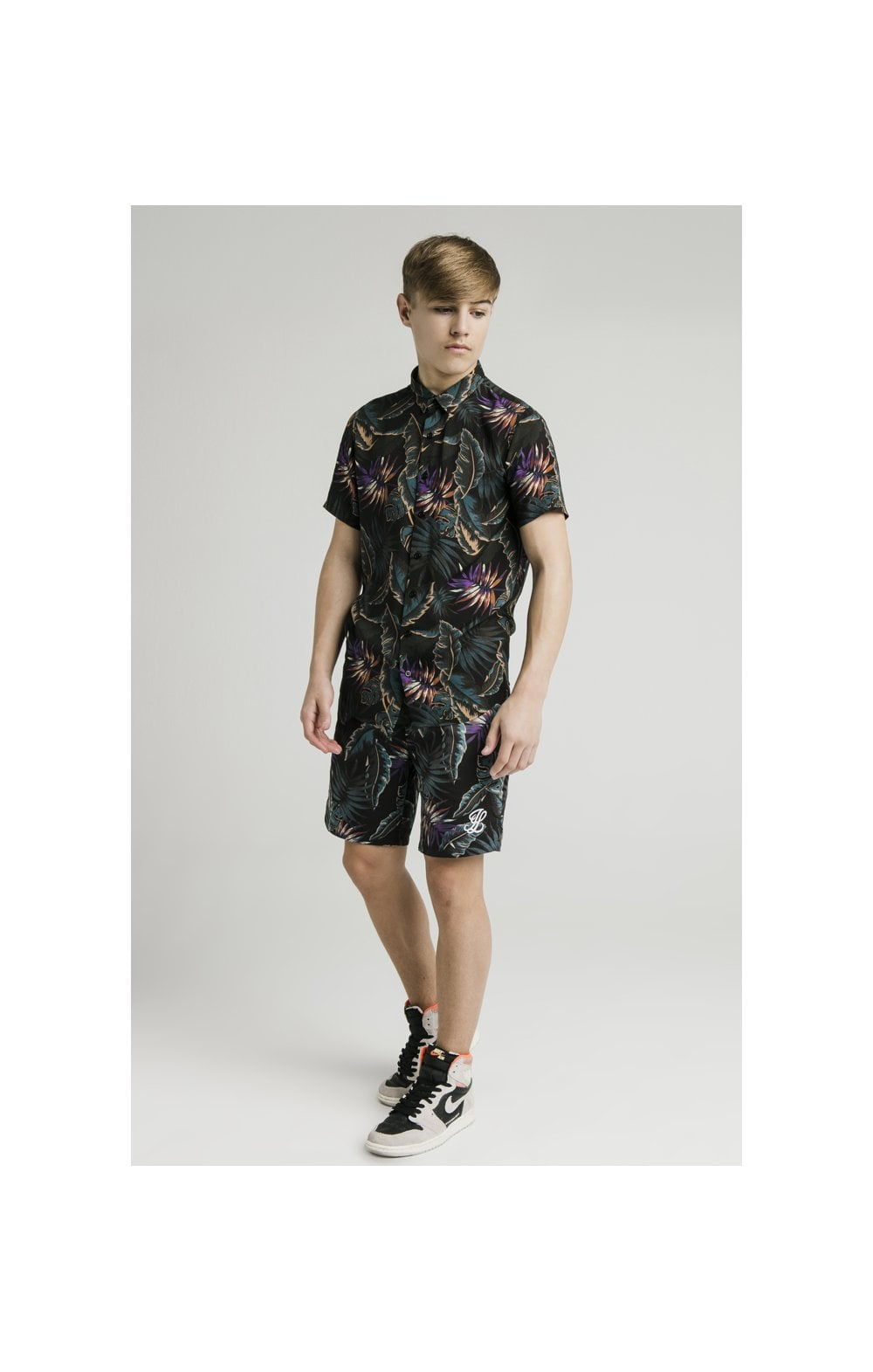 Load image into Gallery viewer, Illusive London Resort Shirt - Palm Print (7)