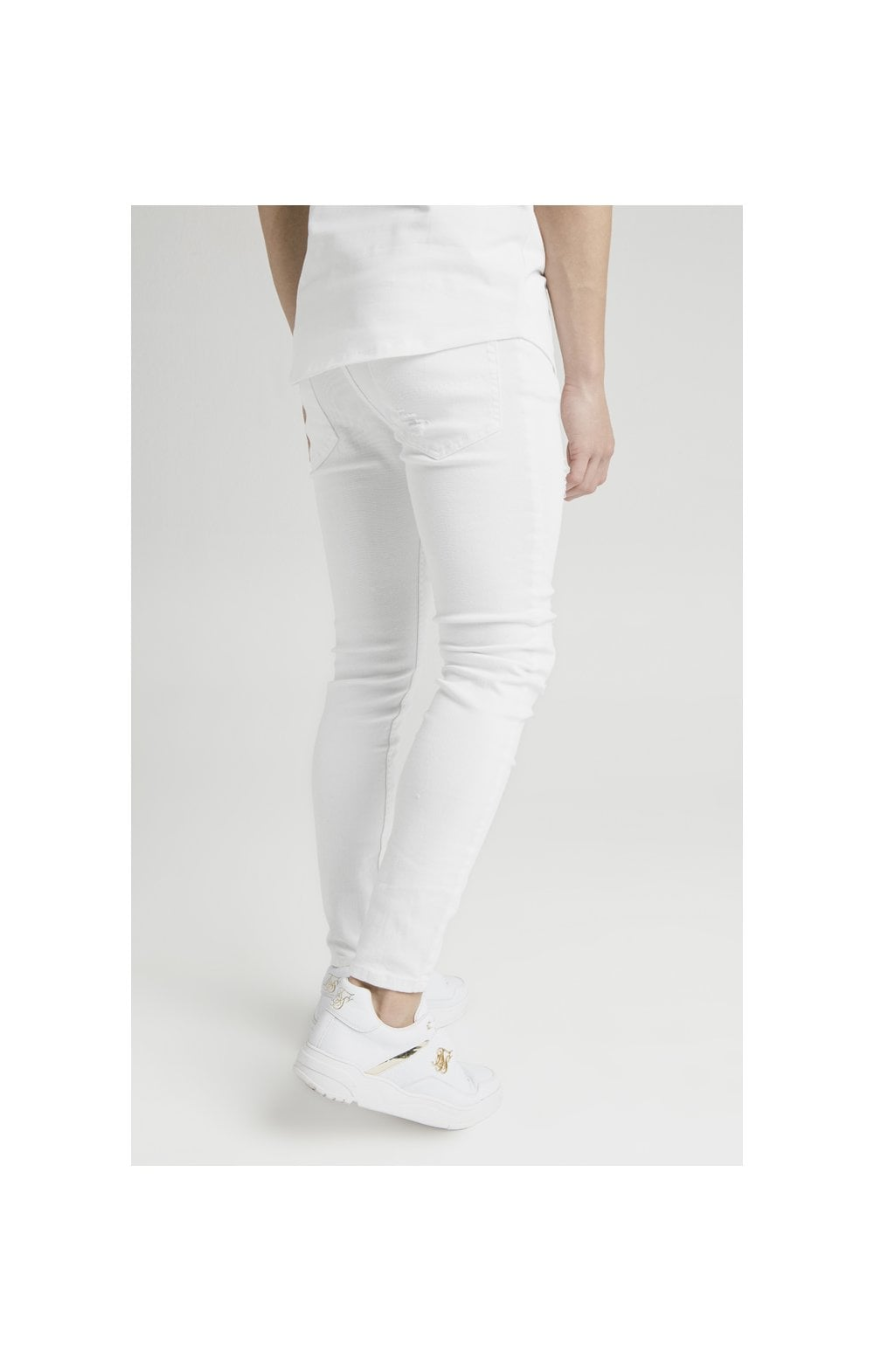 Illusive London Distressed Skinny Denims - White (2)
