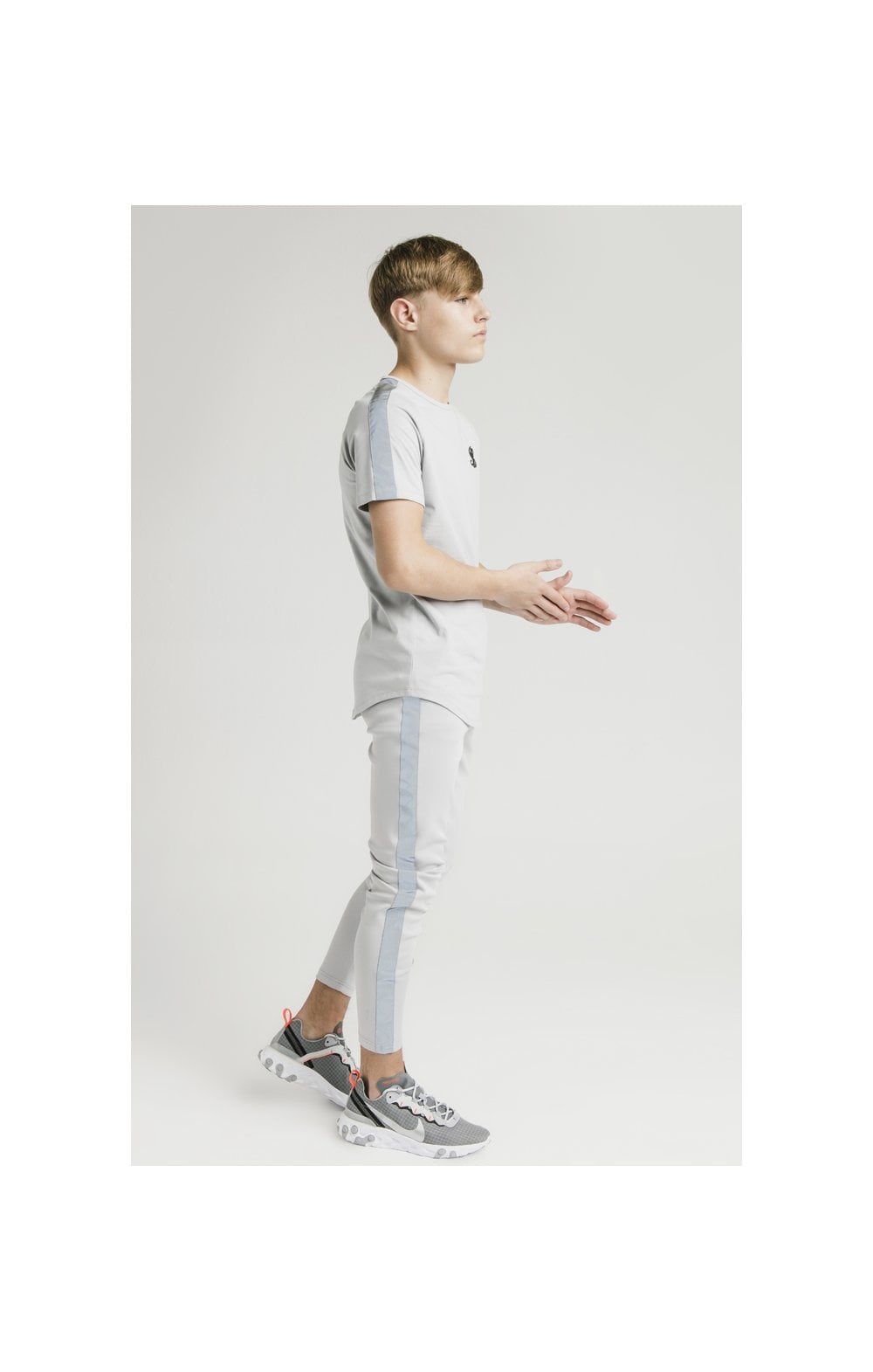 Illusive London S/S Taped Raglan Tee - Grey (4)