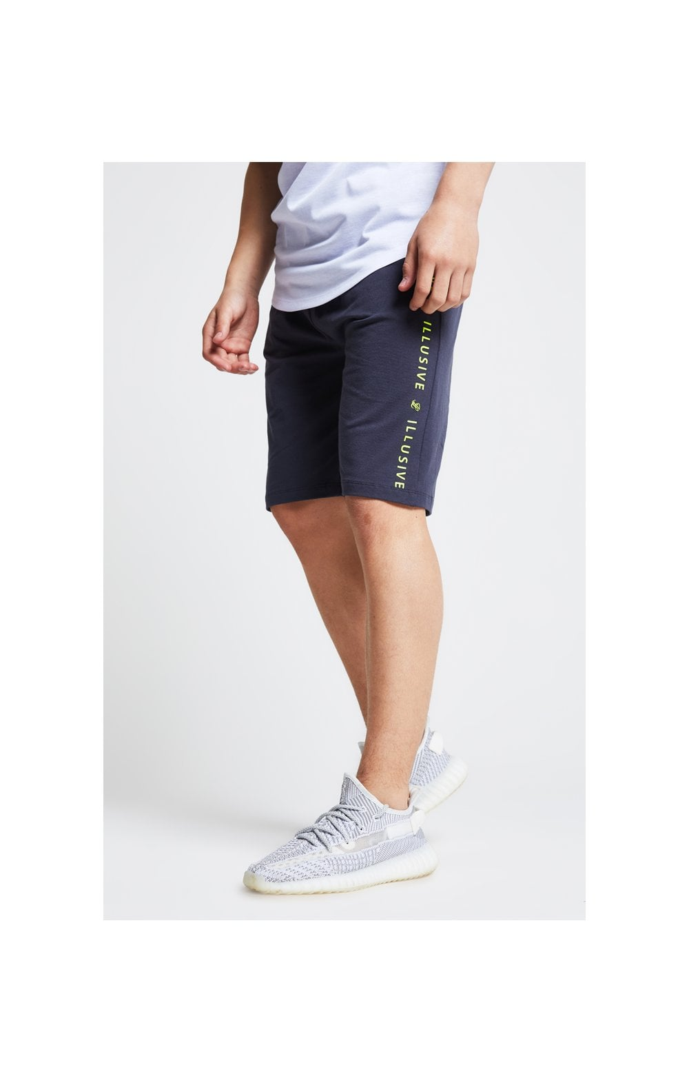 Illusive London Jersey Shorts - Grey Neon Yellow