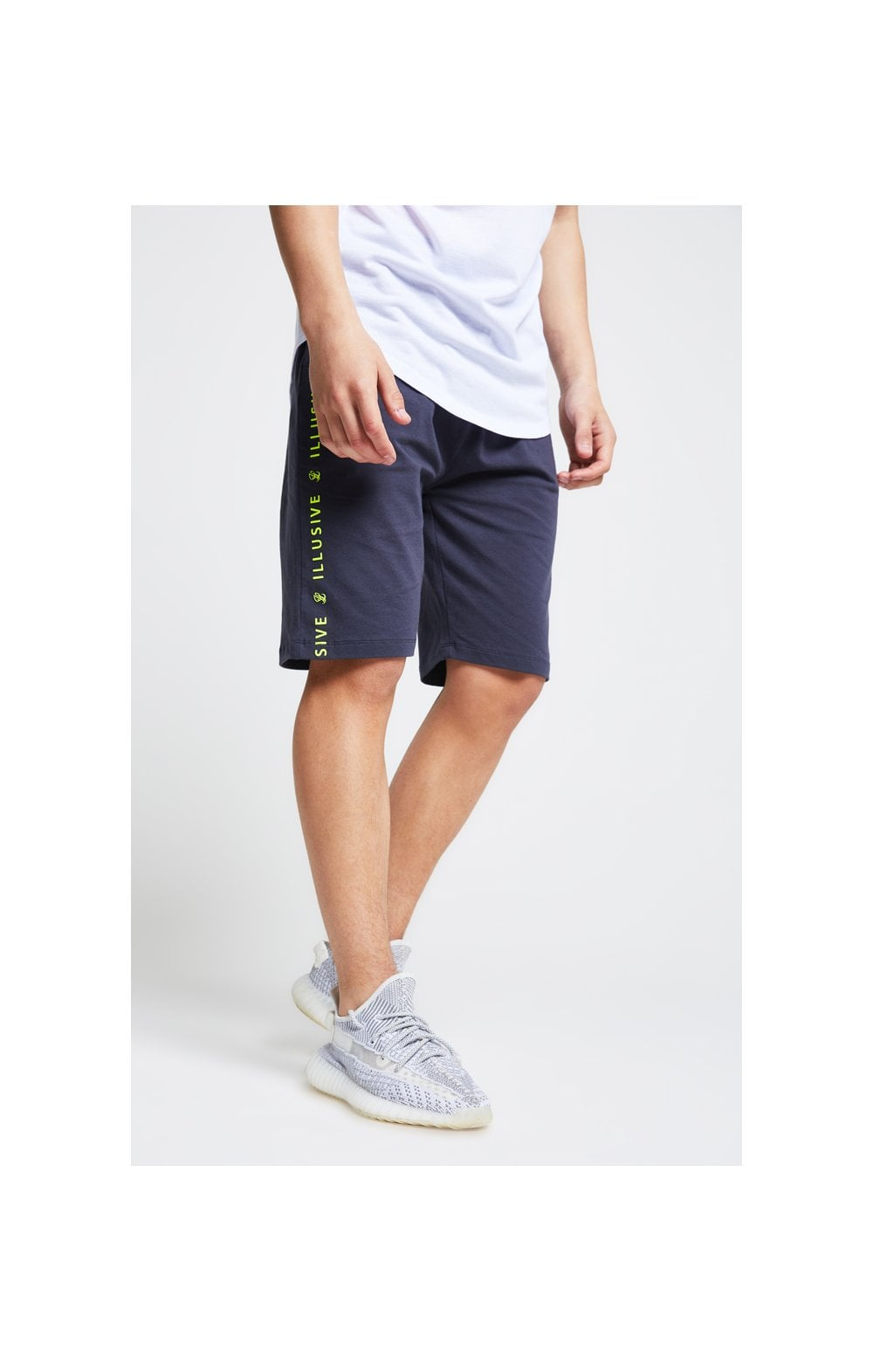 Illusive London Jersey Shorts - Grey Neon Yellow (1)