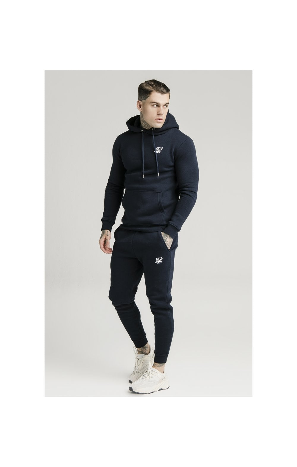 SikSilk Muscle Fit Jogger – Navy (1)