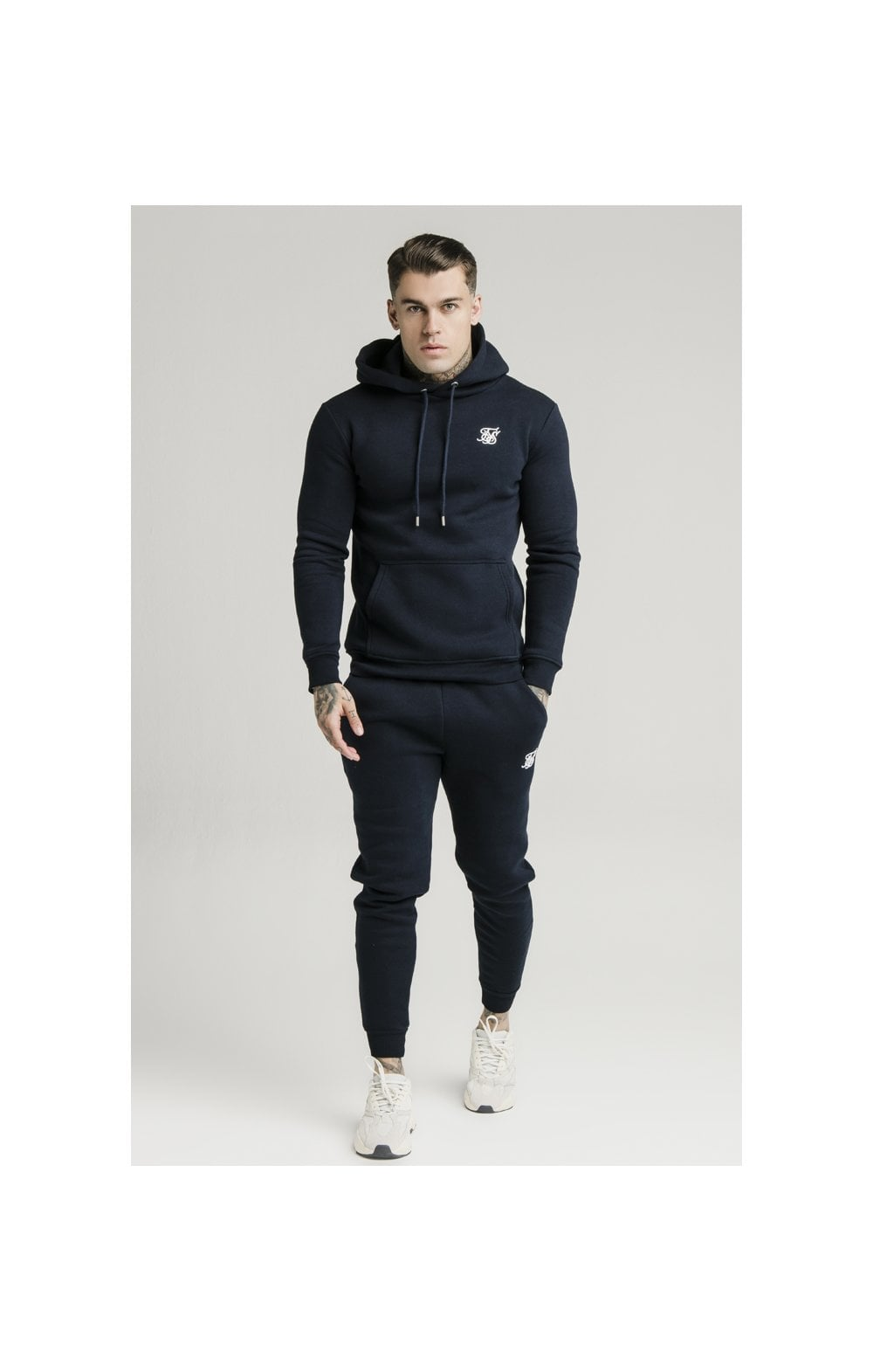SikSilk Muscle Fit Jogger – Navy (5)