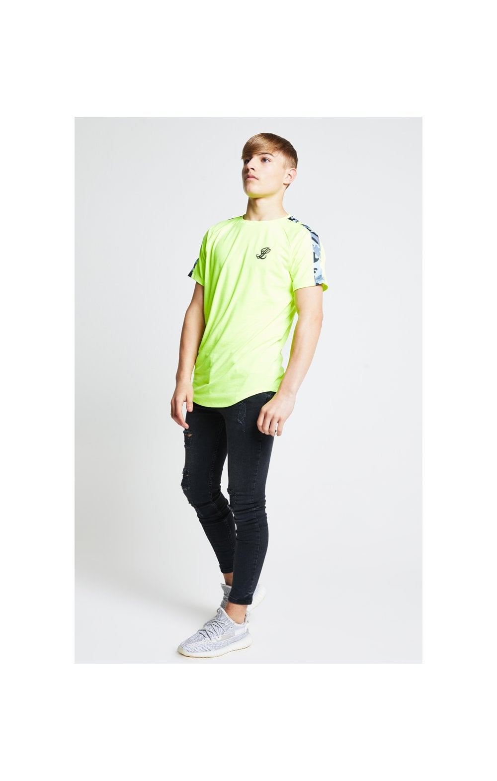 Load image into Gallery viewer, Illusive London Camo Panel Tee – Neon Yellow (3)