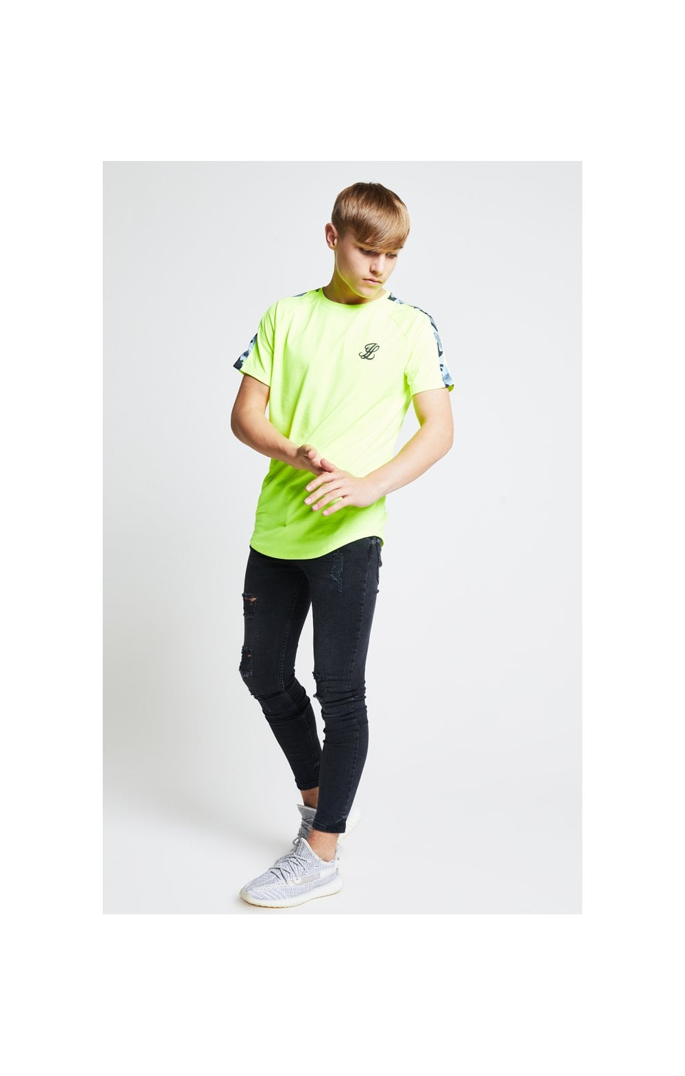 Load image into Gallery viewer, Illusive London Camo Panel Tee – Neon Yellow (4)