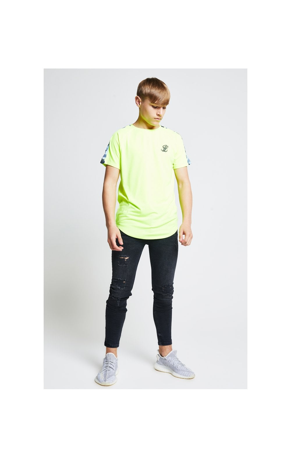 Load image into Gallery viewer, Illusive London Camo Panel Tee – Neon Yellow (5)