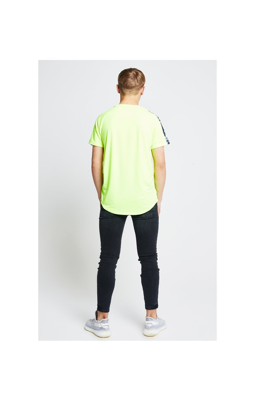 Load image into Gallery viewer, Illusive London Camo Panel Tee – Neon Yellow (6)