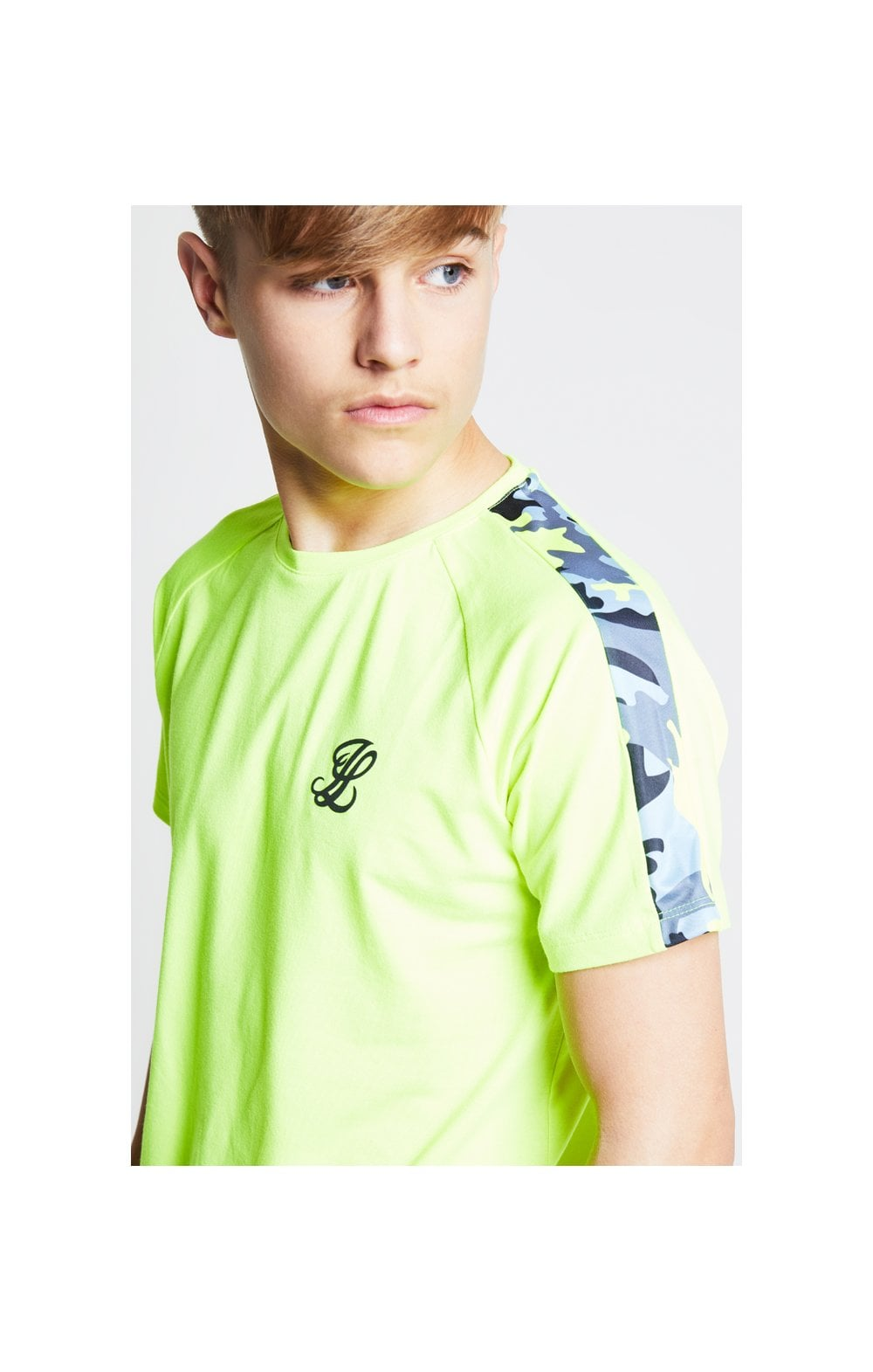 Illusive London Camo Panel Tee – Neon Yellow