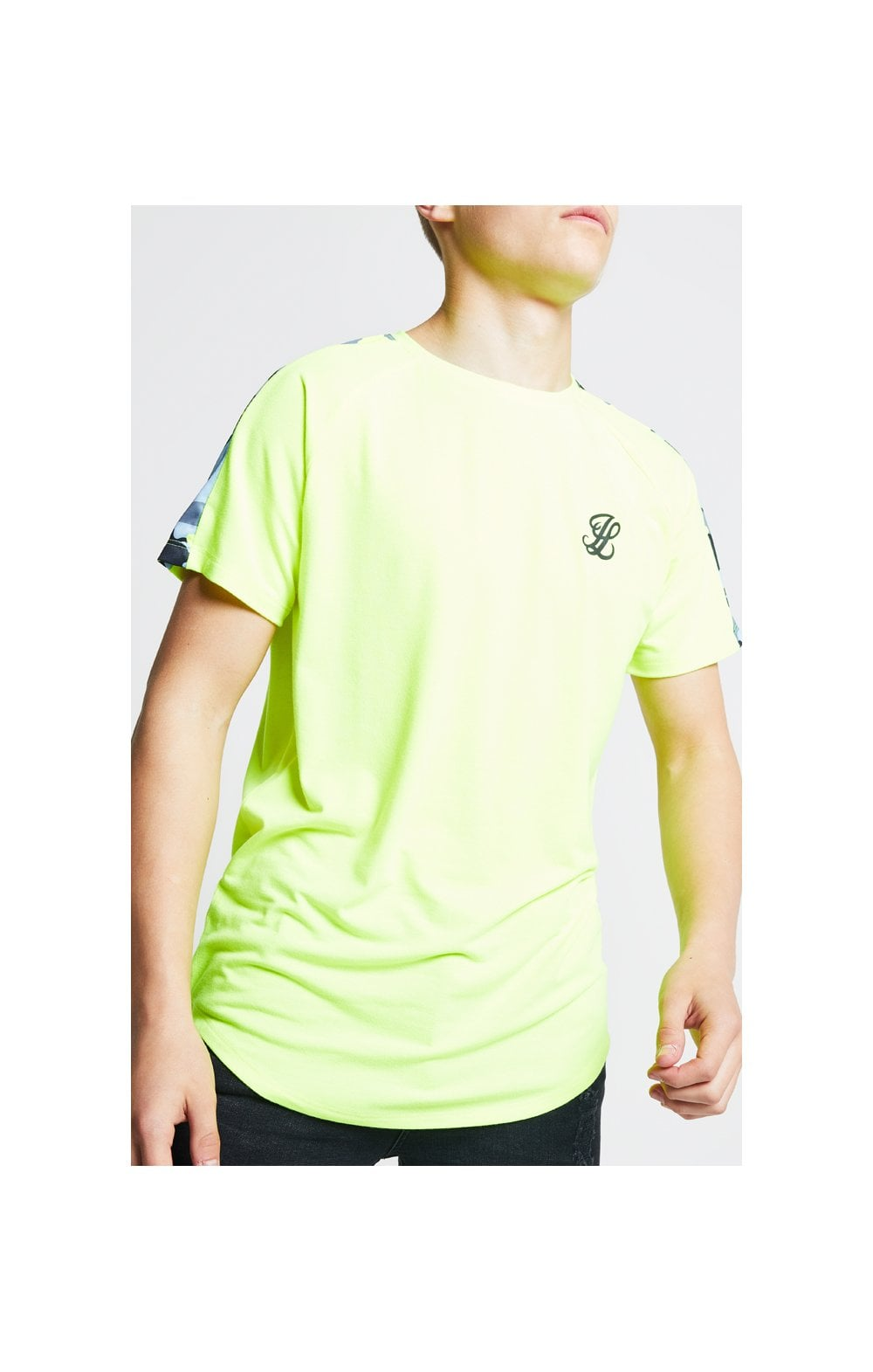 Load image into Gallery viewer, Illusive London Camo Panel Tee – Neon Yellow (1)