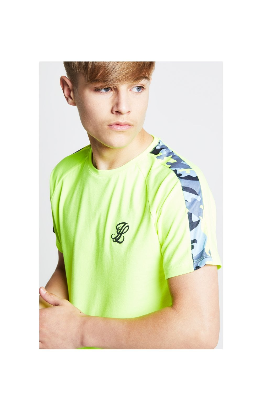 Load image into Gallery viewer, Illusive London Camo Panel Tee – Neon Yellow (2)