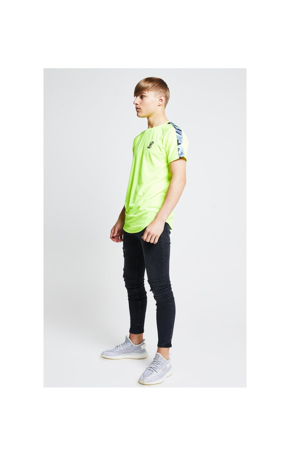 Load image into Gallery viewer, Illusive London Camo Panel Tee – Neon Yellow (7)