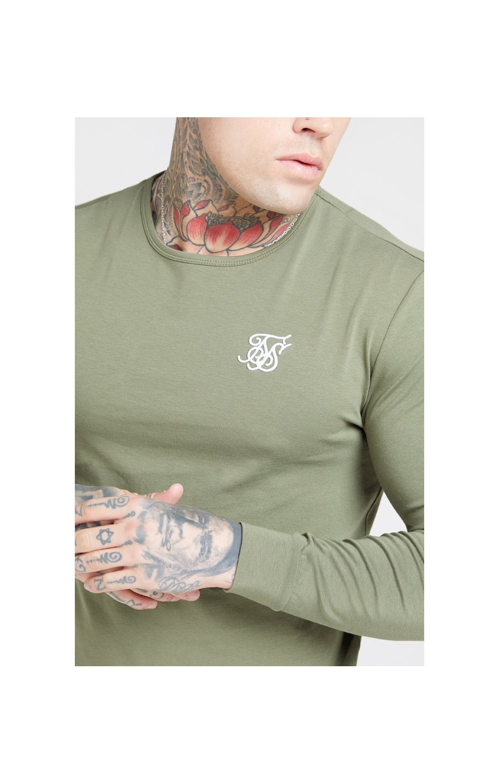 Load image into Gallery viewer, SikSilk L/S Core Gym Tee – Khaki