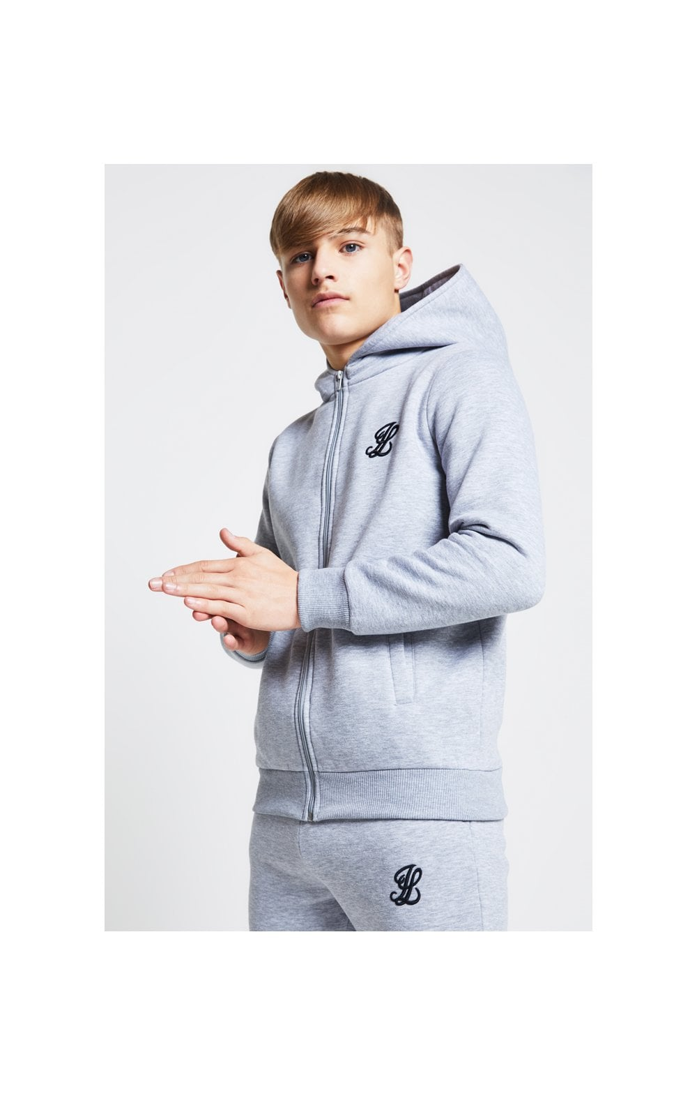 Load image into Gallery viewer, Illusive London Zip Through Hoodie - Grey Marl (1)
