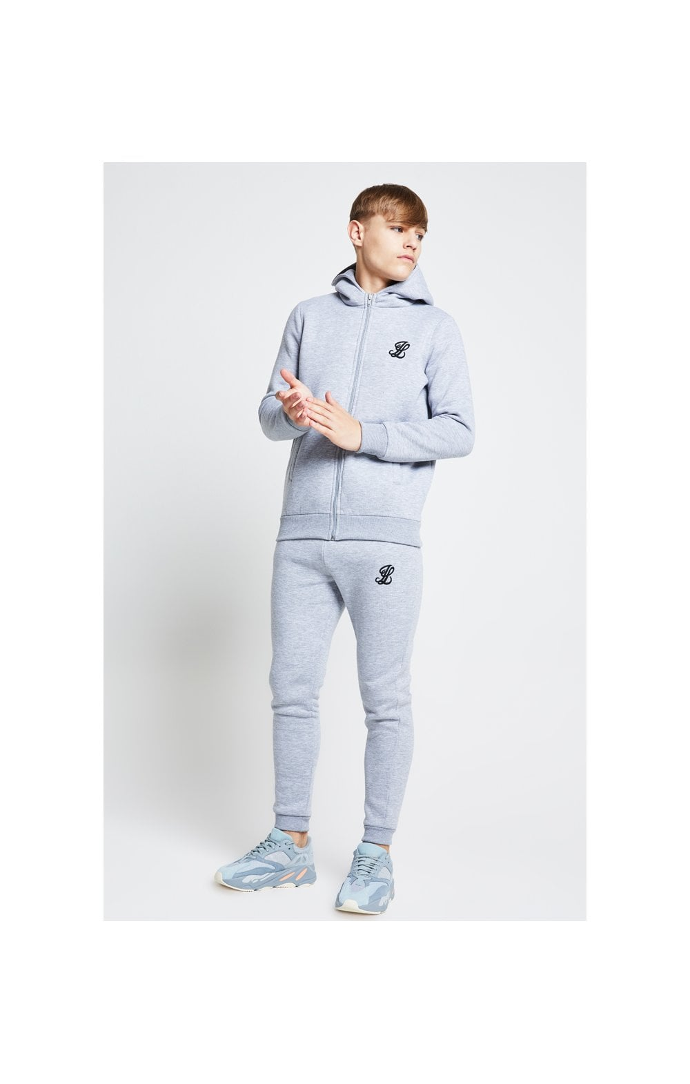Load image into Gallery viewer, Illusive London Zip Through Hoodie - Grey Marl (5)