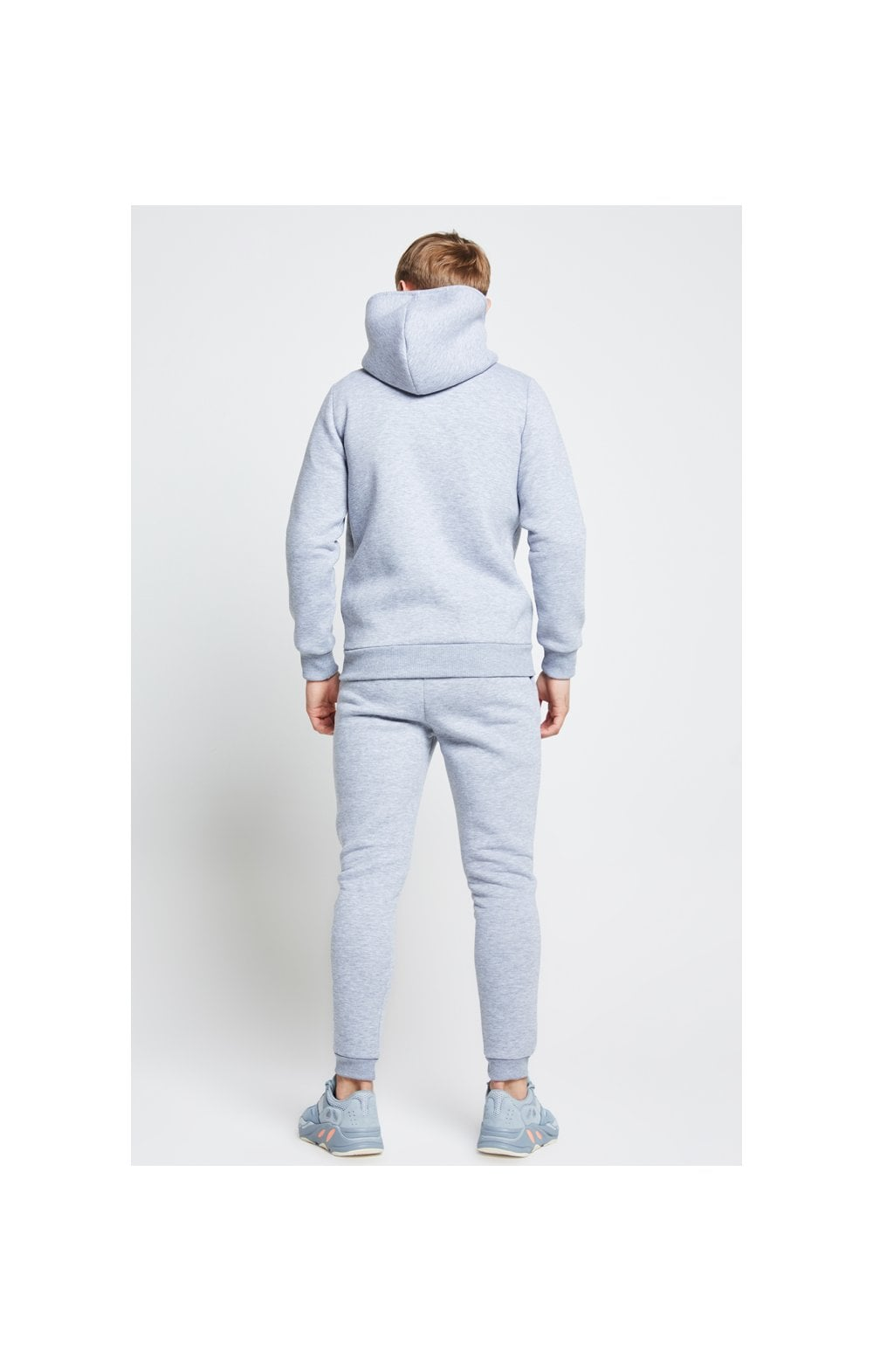Illusive London Zip Through Hoodie - Grey Marl (6)
