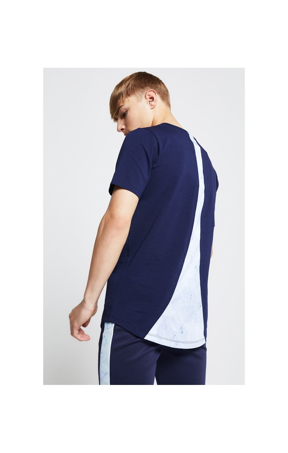 Illusive London Marble Racer Back Tee – Navy & Marble (1)