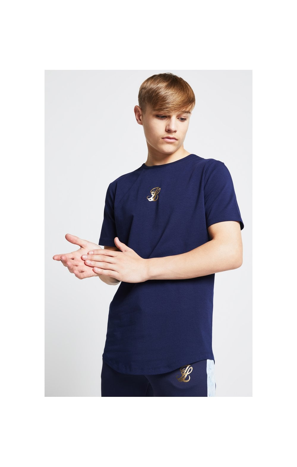Illusive London Marble Racer Back Tee – Navy & Marble (2)