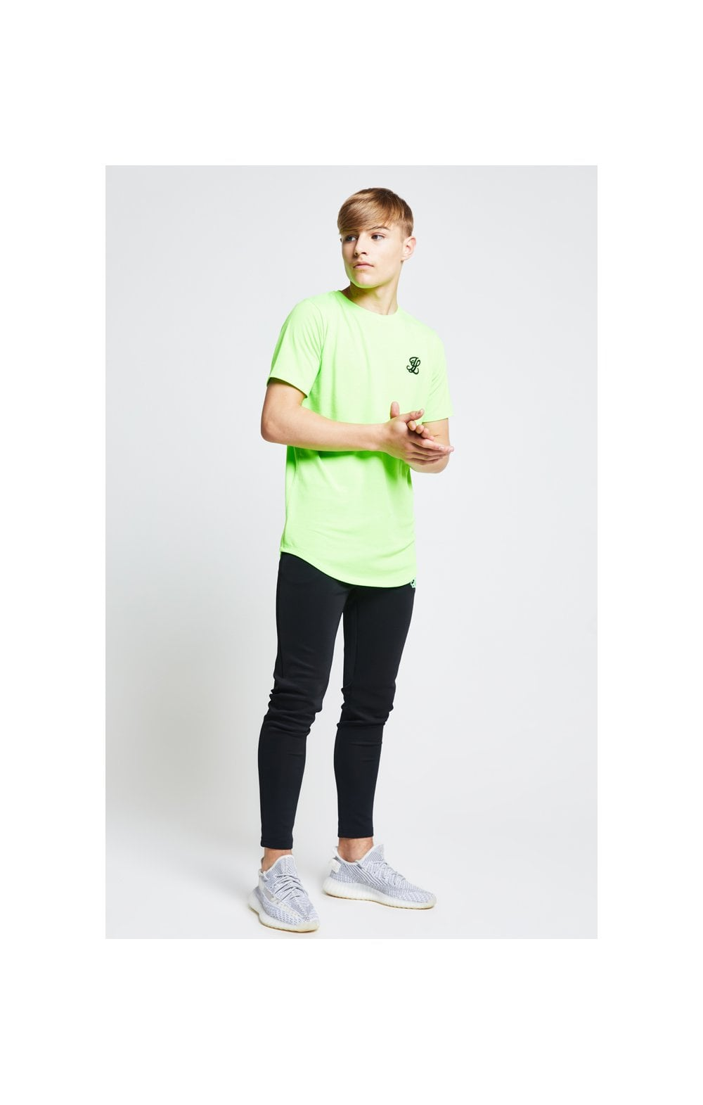 Illusive London S/S Taped Tee – Neon Green (1)