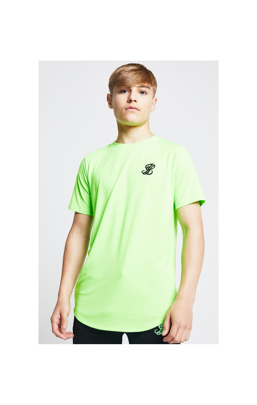 Illusive London S/S Taped Tee – Neon Green (2)