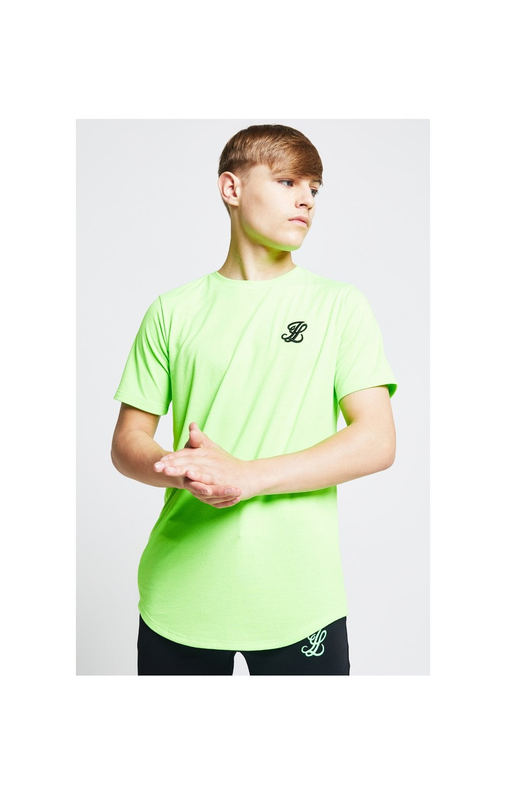 Illusive London S/S Taped Tee – Neon Green (3)