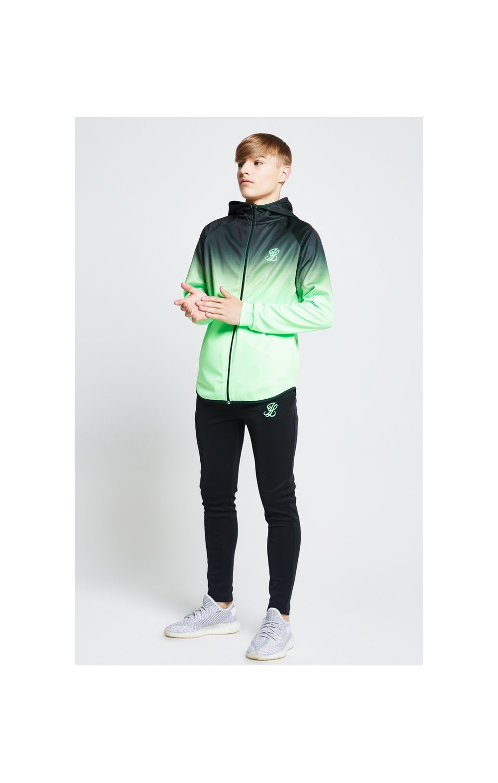Illusive London Athlete Pants – Black & Neon Green (1)