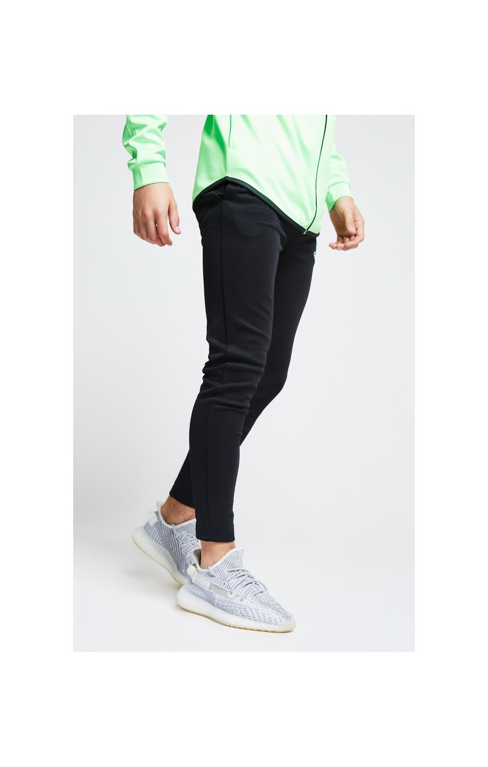 Illusive London Athlete Pants – Black & Neon Green (2)