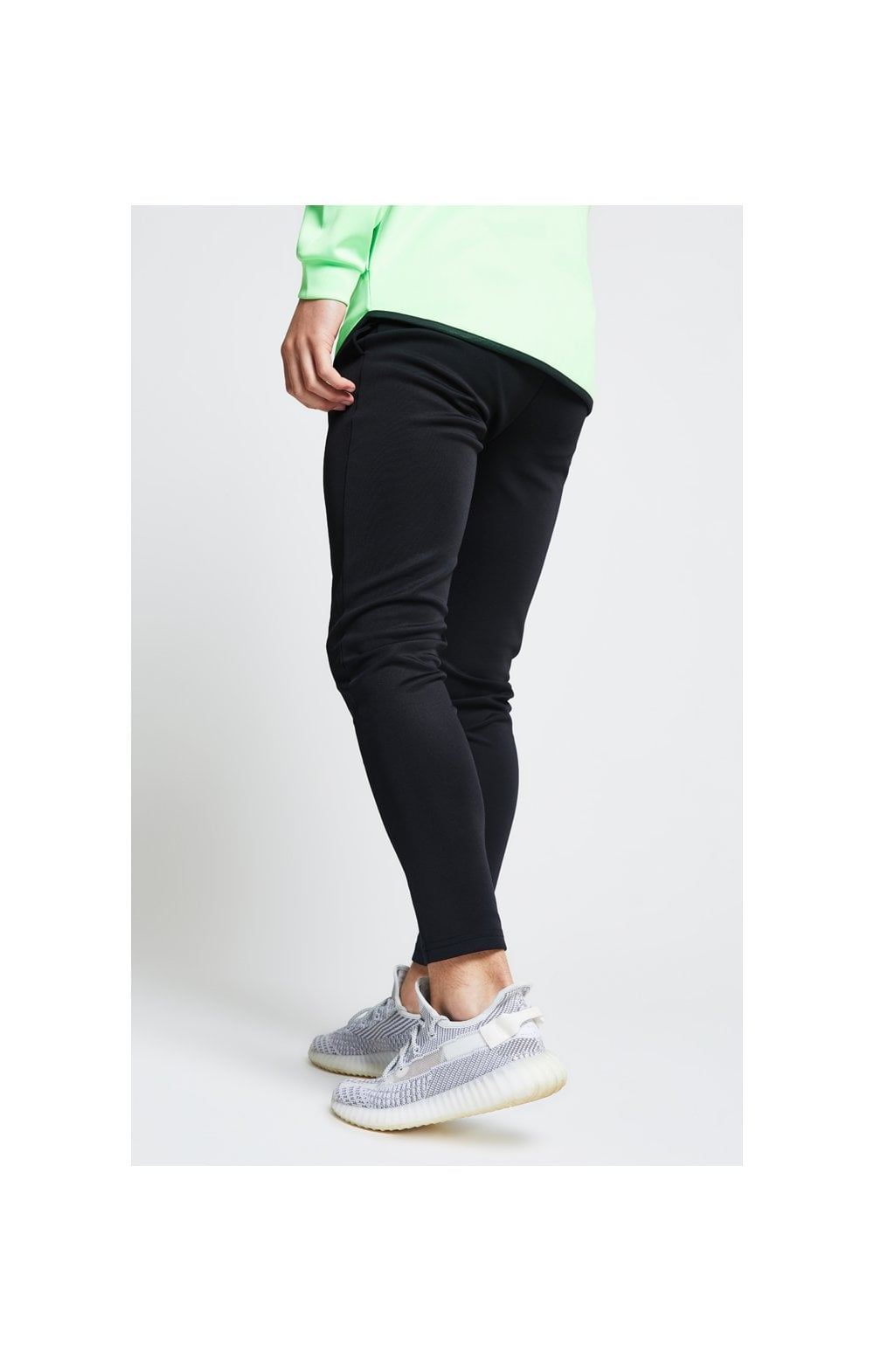 Illusive London Athlete Pants – Black & Neon Green (4)