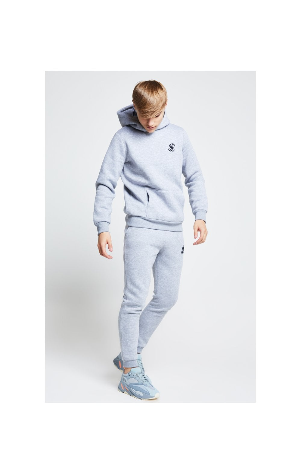 Illusive London Overhead Hoodie - Grey Marl (2)