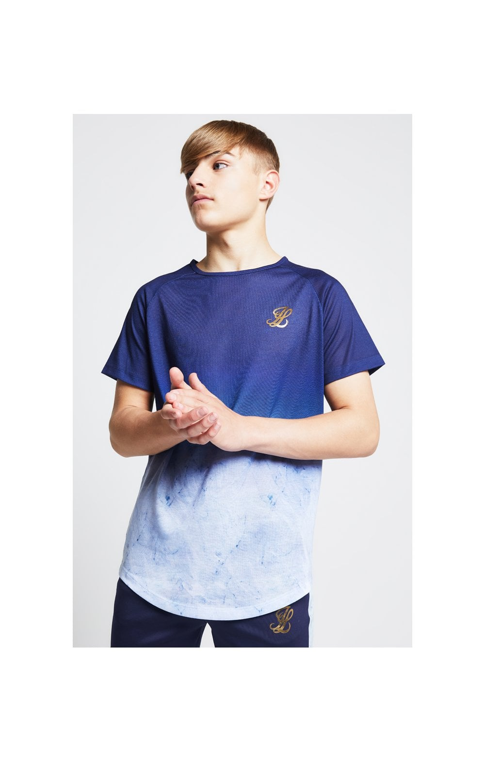 Illusive London Marble Fade Tee – Navy & Marble