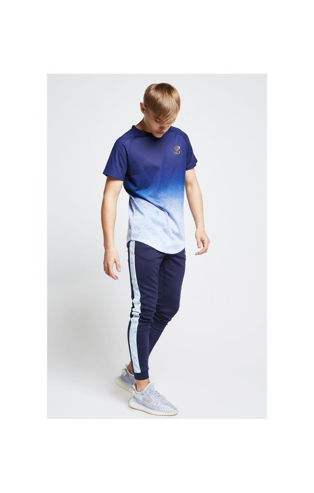Illusive London Marble Fade Tee – Navy & Marble (2)