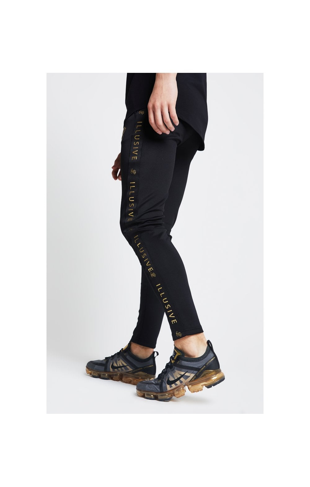 Load image into Gallery viewer, Illusive London Tape Joggers - Black (1)